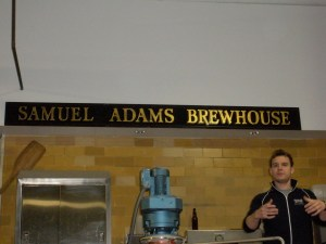 No, that is not Sam Adams, that is our tour guide...umm..whatshisname